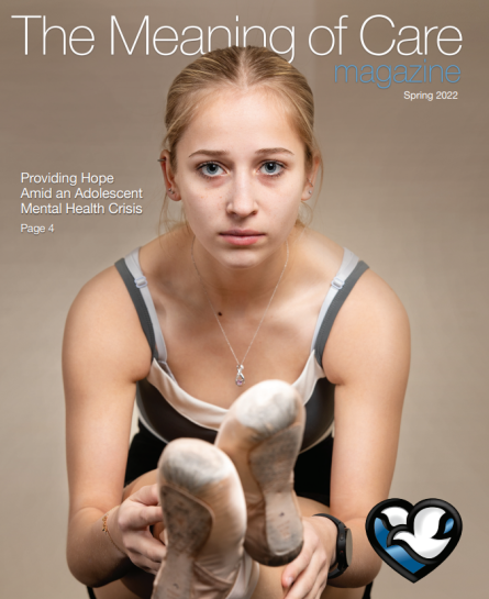 Magazine cover image for The Meaning of Care Magazine.
