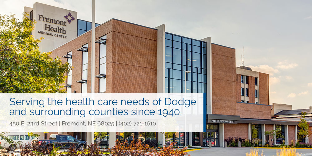 Serving the health care needs of Dodge and surrounding counties since 1940. 450 East 23rd Street, Fremont, Nebraska 68025, 402-721-1610