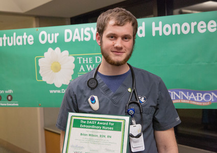 Brian Wilson, BSN, RN, of the Methodist Hospital Progressive Care Unit on 6 North