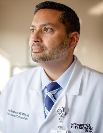 Methodist Physicians Clinic pulmonologist Sumit Mukherjee, MD