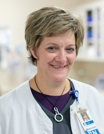 Geriatric resource nurse Terri Perry, BSN, RN