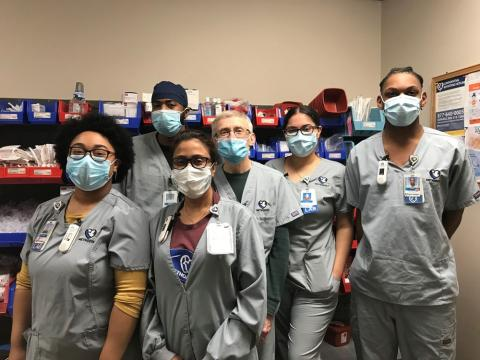 Methodist Hospital phlebotomists pictured here are, from left: Maryam Arellano, PBT, Eugene Skinner, PBT, Shamema Salam, PBT, Tony Gust, PBT, Jasmin Gonzalez and TyVion Smith.