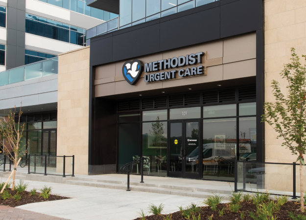 Exterior of Methodist Urgent Care Aksarben in Omaha, Nebraska