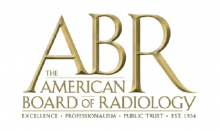 American Board of Radiology badge