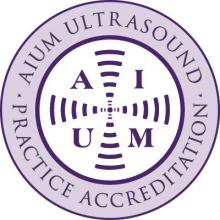 AIUM Ultrasound Practice Accreditation badge