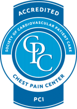 Accredited Chest Pain Center badge