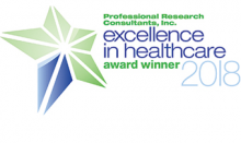 PRC Excellence in Healthcare Award 2018 logo