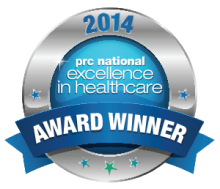PRC National Excellence in Healthcare 2014 badge