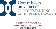 Commission on Cancer Outstanding Achievement Award 2019 logo
