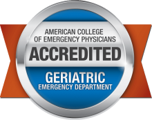 American College of Emergency Physicians - Accredited Geriatric Emergency Department badge