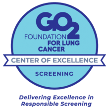 GO2 Foundation for Lung Cancer Center of Excellence for Screening badge