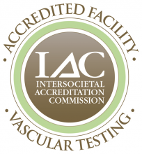 Accredited by the IAC for Vascular Testing Seal