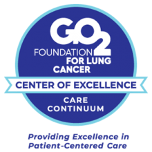 Lung Cancer Care Continuum Center of Excellence by the GO2 Foundation for Lung Cancer badge